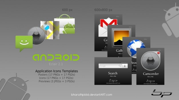 Android icoon sjablonen