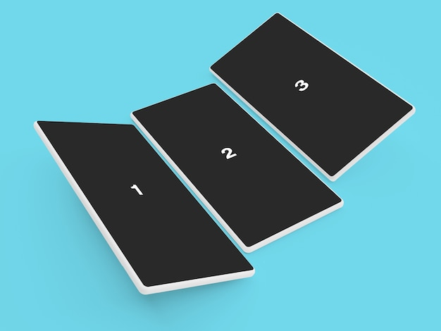 Android-telefoon clay mockup