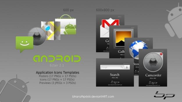 Androide icono de las plantillas