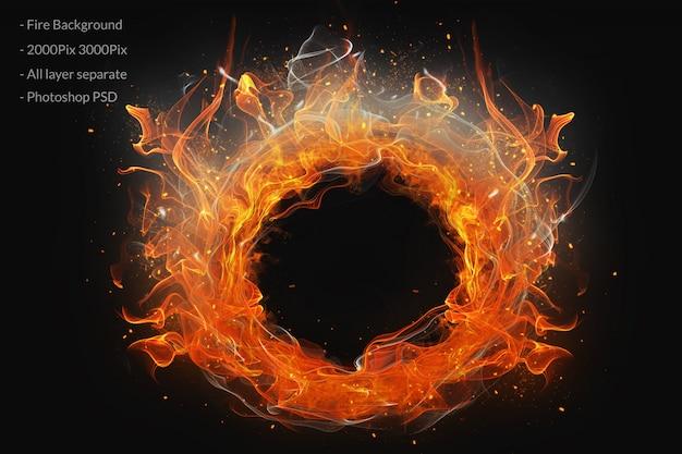 Anello di fuoco sullo sfondo