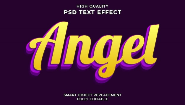 Angel teksteffect