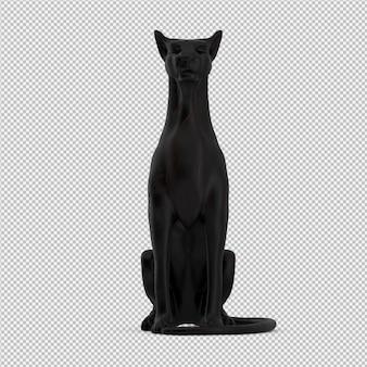 Animal estatua 3d aislado render