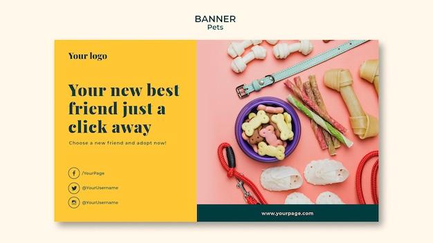 Animali domestici banner template design