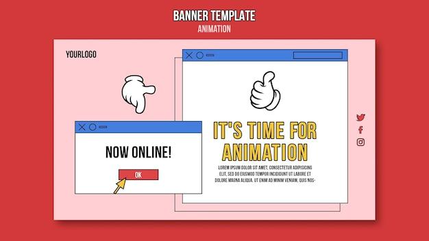 Animatie online klas sjabloon voor spandoek