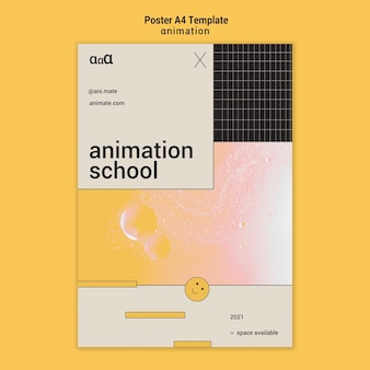 Animatie school poster sjabloon