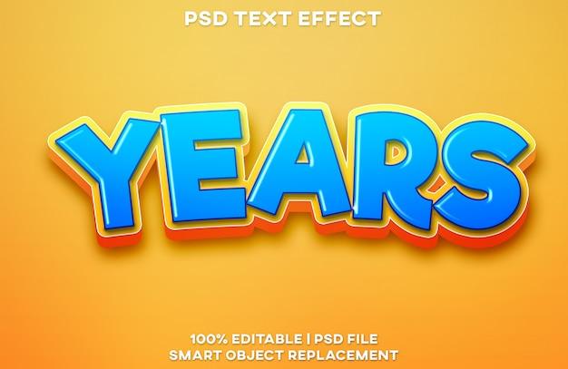 Anni di effetto del testo