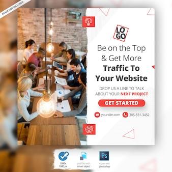 Annuncio di banner web di marketing aziendale