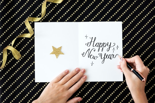 Año nuevo celebrar evento decoracion disfrutando concepto