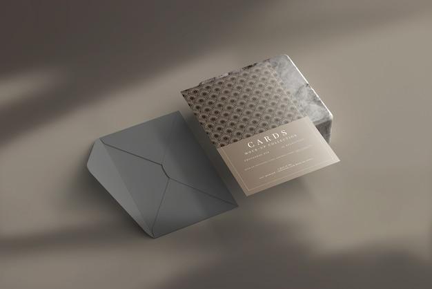 Ansichtkaart of uitnodigingskaartmodel met platte hoeken