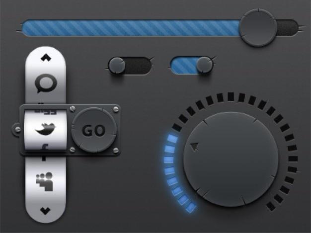 Antieke ui-elementen interface design