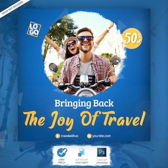 Anuncio de banner web de viajes y vacaciones