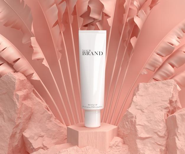Anuncio de productos hidratantes para el cuidado de la piel