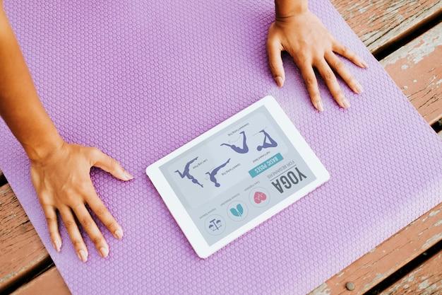 Aplicación digital para yoga.