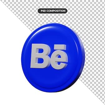 Aplicación de logotipo de renderizado 3d behance aislada
