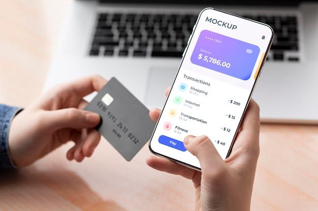 Aplicación de pago para maqueta de teléfonos inteligentes