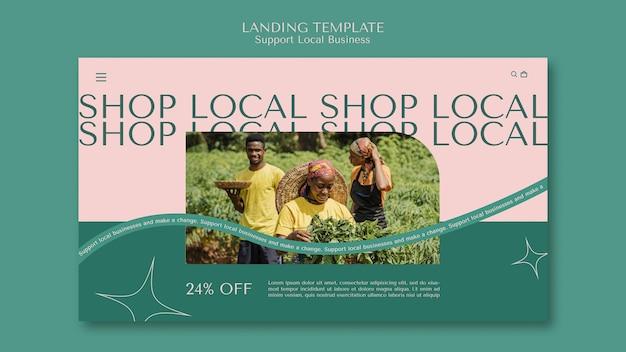 Apoyar la plantilla de la página de destino de las empresas locales
