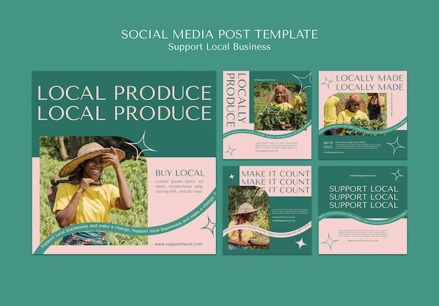 Apoyar la publicación en redes sociales de empresas locales