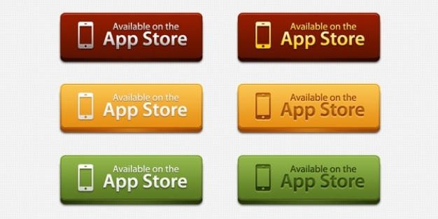 App store botones de descarga psd