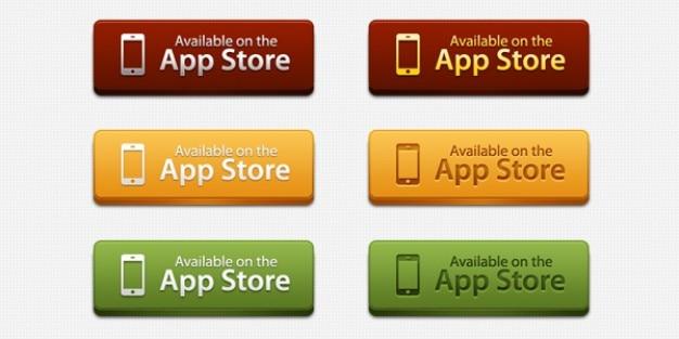 App store pulsanti di download psd