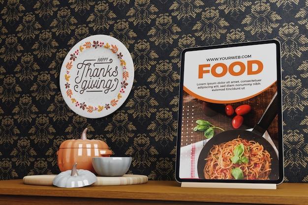 Apparaat met thanksgiving-concept