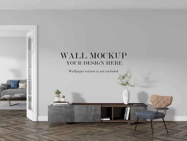 Appartementkamer met mockup-ontwerp aan de muur