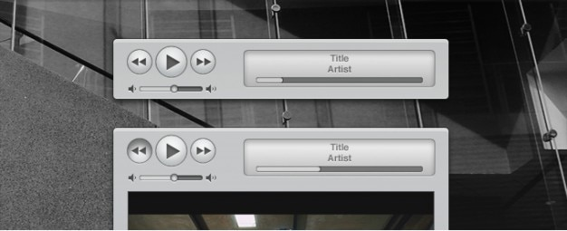 Apple itunes simili controlli multimediali e interfaccia