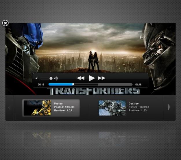 Apple movie trailers video player ui