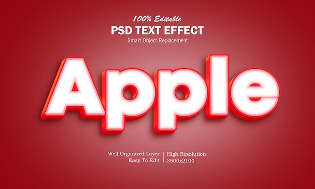 Apple teksteffect
