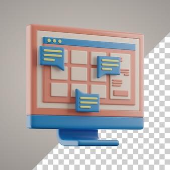 Aprendizaje en línea 3d en computadora