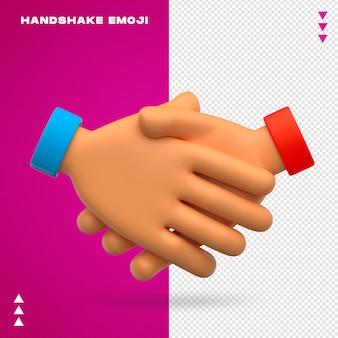 Apretón de manos, emoji, aislado