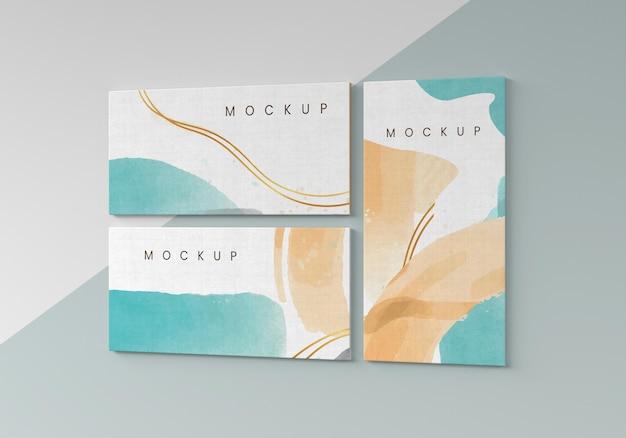 Aquarel op canvas collectie