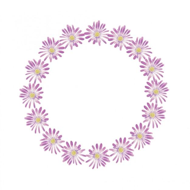 Aquarel violet anemoon krans