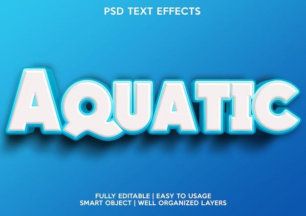 Aquatisch teksteffect