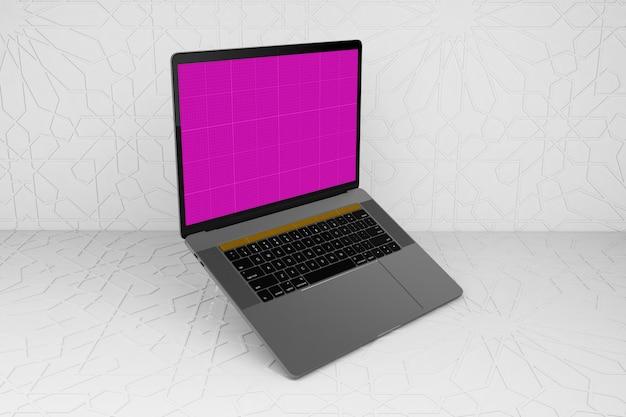 Arabisch oppervlak en laptop mockup
