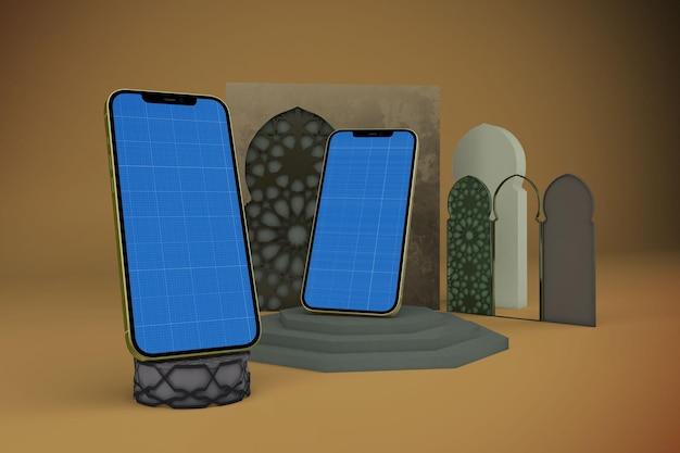 Arabische slimme telefoonmodel