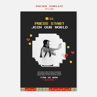 Arcade poster sjabloon concept