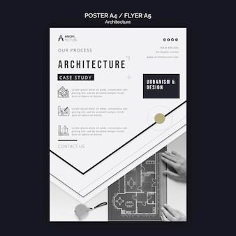 Architectuur concept poster sjabloon Gratis Psd