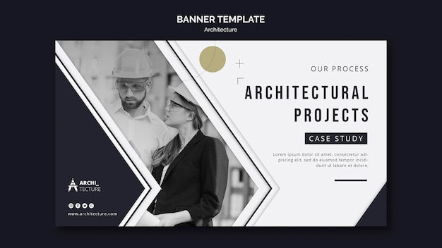 Architectuur concept sjabloon voor spandoek