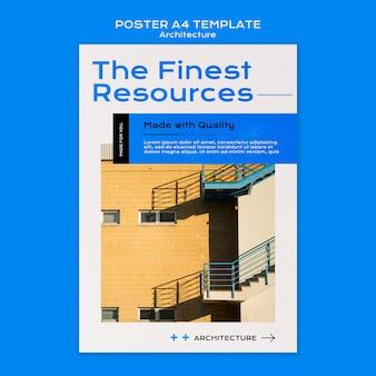 Architectuur poster sjabloon
