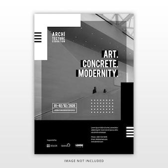 Architectuur tentoonstelling sjabloon folder