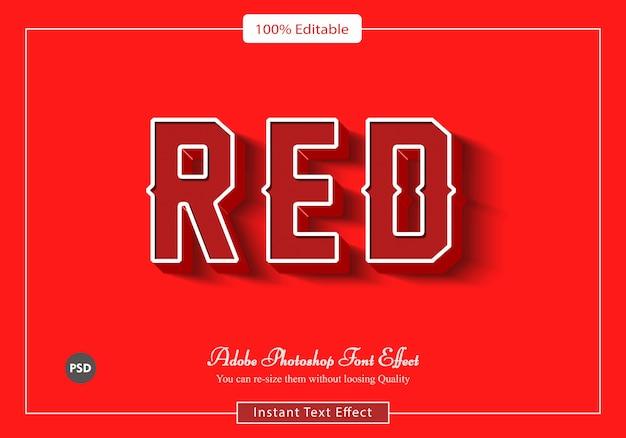 Archivo psd de efecto de fuente retro rojo
