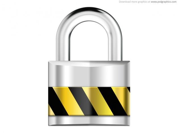 Argento lucchetto, sicurezza icona