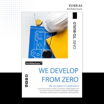 Arhitecture concept flyer sjabloon
