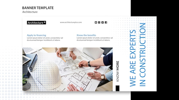 Arhitecture concept sjabloon voor spandoek