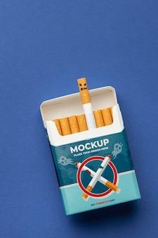Arrangement van geen tabaksdag mock-up