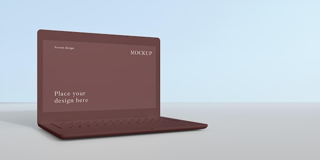 Arreglo de computadora portátil de maqueta moderna