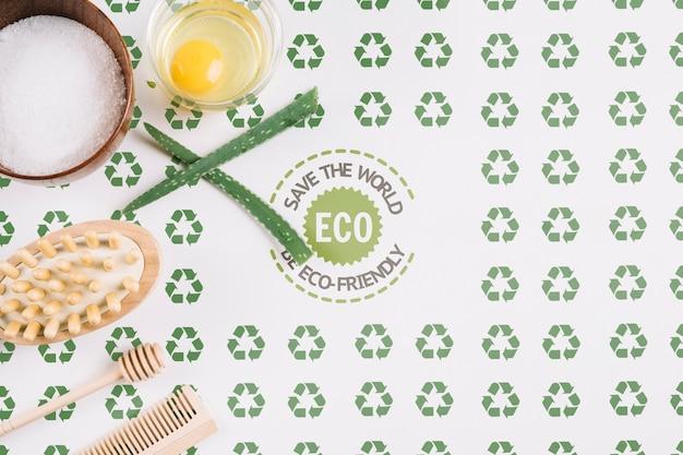 Arreglo ecológico con maqueta