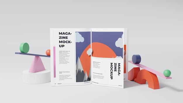 Arreglo de maqueta de revista minimalista