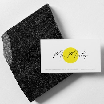 Arreglo de maqueta de tarjeta de visita moderna