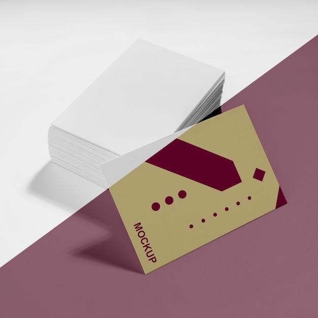 Arreglo de la maqueta de la tarjeta de visita